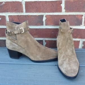 New Tod's Studded Suede Bootie